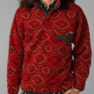 Patagonia Red Synchilla Printed Pullover